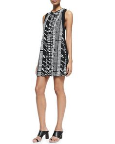 Sleeveless Printed Shift Dress by Proenza Schouler at Neiman Marcus.