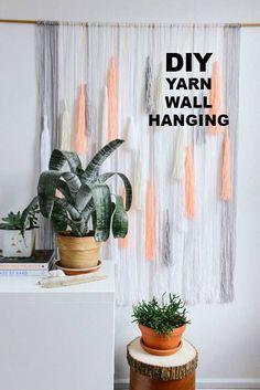 yarn wall hanging   designlovefest