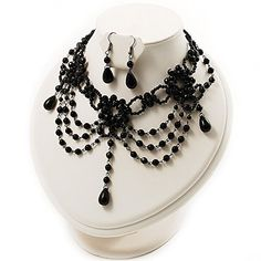 Black Gothic Costume Choker Necklace And Earring Set *** You can find out more details at the link of the image.(This is an Amazon affiliate link)