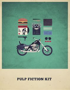 Pulp Fiction Kit - Movies Hipster Kit, Alizée Lafon / Minimal Movies and series TV Poster