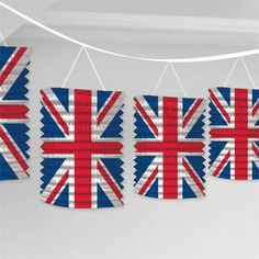2 x Great Britain Union Jack Lantern Garland Decoration for sale online Lanterns Decor, Paper Lanterns, Union Jack Decor, British Party, Jack Lantern, Union Flags, Fabric Bunting, Party Bags, Party Themes