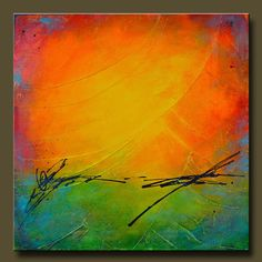 Daydream 2- Abstract Acrylic Original Painting on Canvas - 20x20 - Highly Textured - Contemporary Wall Art