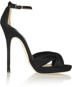 Jimmy Choo Jada shimmer-leather sandals on shopstyle.com