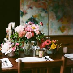 beautiful flowers for the table