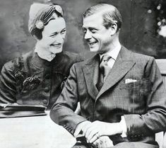 The Duke and Duchess of Windsor pictured after their marriage in 1937, six months after Edward abdicated the throne