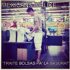 Mexis be like... traite bolsas pa la basura!!!