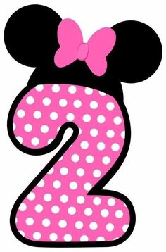 "$3.99 - 3-6.5"" Disney Minnie Ears 2Nd Birthday Character Custom Heat Transfer Iron On #ebay #Home & Garden"