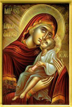 Παναγία Γλυκοφιλούσα Παναγία: Panagia: All Holy (Title for the Mother of God)  Γλυκοφιλούσα: Glykophilousa: Sweet Kissing or Sweet Tenderness