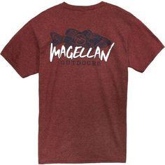 Magellan Outdoors Men s Bass Lines T-shirt (Red Dark e5795b4ca
