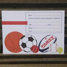 Sport invitations - $12.95 for a pack of 10