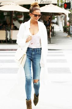 Chrissy Teigen wearing Chloe Ce665s Sunglasses and Isabel Marant Lance Velvet Eyelet Leather Boots in Taupe