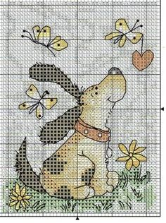 Dog spring cross stitch by alissa