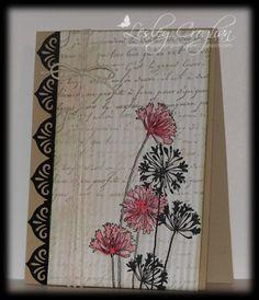 CAS143-Vintage Agapanthus by Lionsmane - Cards and Paper Crafts at Splitcoaststampers