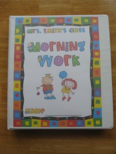 Great ideas for morning work, and a great blog:WONDERFUL IDEA FOR ME TO IMPLEMENT 2012-2013 FOR MORNING