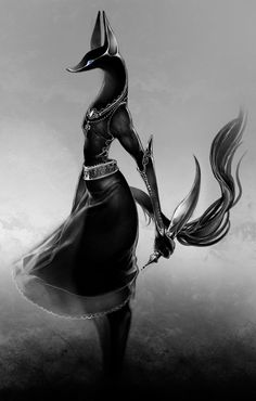 ANUBIS by ovopack.deviantart.com on @deviantART Anubis was the god who  protected the dead and bring them to the afterlife.