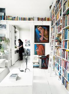 Little overboard on the white but I love the bookshelf design :)