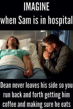 Alivian definitely does this, but both Adam and Ben take turns taking care of Dean so they can force Alivian to get some rest too. Supernatural Fanfiction, Supernatural Imagines, Supernatural Funny, Getting Him Back, How To Get Sleep, Super Natural, Staying Alive, Destiel, Story Inspiration