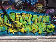 SOFLES RIP graffiti memorial, Hosier lane, Melbourne