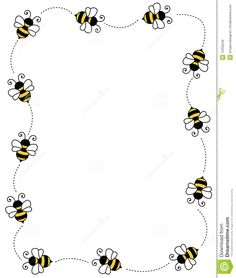 Illustration about Cute bees on white background page border / frame / corner. Illustration of insect, decorative, frame - 12202246 Bee Cards, Cute Bee, Frame Clipart, Borders And Frames, Bees Knees, Framed Art, Coloring Pages, Clip Art, Art Frames