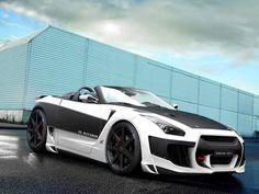 The matt black and white convertible GT-R