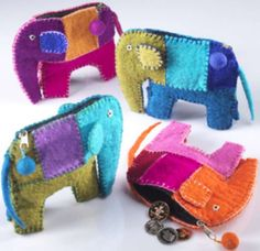 For Peanuts!  elephant coin purse