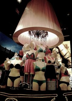 Victoria Secret Display of mannequin lingerie by yumiang, via Flickr    Dress Forms like this can be found at Mannequin Madness