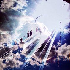 """#skyisthelimit #stairwaytoheaven dubble by ideajet & romandacxp @dubbleapp #dubbleapp #doubleexposure #dubblecomp"""