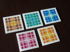 Coaster set perler beads by Mao Uono