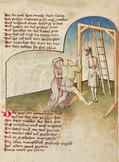 Sign. Cod.I.3.2.3, fol. 60r (Oettingen-Wallersteinsche Bibliothek). Ulrich Boner, Der Edelstein. - Des Teufels Netz. - Sibyllenweissagung. [Ostschwaben], 1449