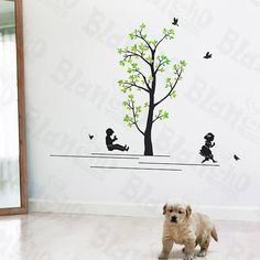 Swing - Wall Decals Stickers Appliques Home Decor