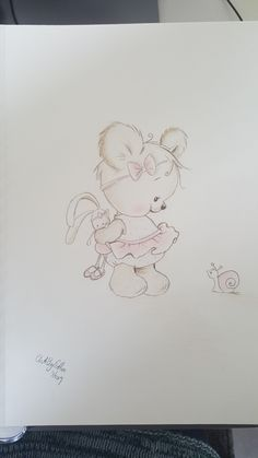 "This one is for my expected granddoughter:) A4 done with Derwent coloursoft Have this from pinterest don""t know the artist.  #baby #babylove #babybear #art #artwork #drawing #derwent"