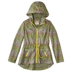 Mossimo Supply Co. Junior's Anorak Rain Coat -Pink Floral Print ...