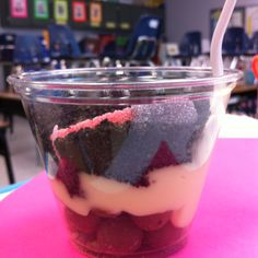 Layers of soil: whoppers are the rocks, vanilla pudding is the clay soil, and crushed Oreos are the top soil. Can't forget the gummy worm on top. My students loved this! Very delicious too! :)