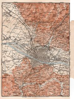 1903 Map of Florence Antique Map Map of Italy by Craftissimo