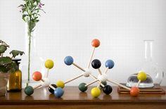 Wooden molecule set by Ferm Living.