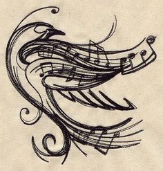 this might need to be a tattoo. on me. // Soaring Melody | Urban Threads: Unique and Awesome Embroidery Designs