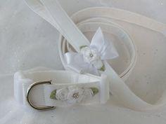 Wedding Leash and Collar Dog Collar and Leash by graciespawprints, $32.50
