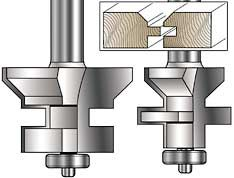 MLCS Tongue and Groove V-notch router bit set