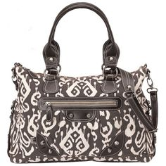 Click Image Above To Purchase: Oioi Ikat Tapestry Organic Diaper Tote - Chocolate