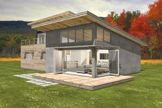 Modern Style House Plan - 3 Beds 2 Baths 2115 Sq/Ft Plan #497-31 Exterior - Front Elevation - Houseplans.com