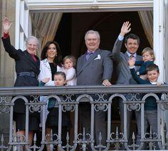 Los más pequeños de la Familia Real danesa, protagonistas del cumpleaños de la reina Margarita #royals
