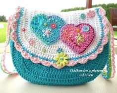 PATTERN - handbag for little girls - crochet pattern, purse, bag, PDF