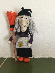 Hubble bubble, toil and trouble....... Mrs witch, crochet pattern by Uljana semikrasa
