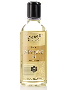 Pure almond oil - does wonders for hair and skin all types. Used and verified - I cannot recommend a better miracle cure. Make scrubs with baking soda or sugar for your face and have the cleanest, softest skin, mix with your favorite natural shampoo and it works like a deep conditioner...
