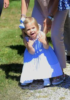 """duchesscambridges: """" """"Princess Leonore visits the stables to meet her horse, Haidi of Gotland, for the first time on June 3, 2016."""" """""""