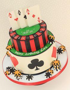 Cakes for men, las vegas cake, poker cake, casino cakes, casino party Fète Casino, Casino Cakes, Casino Royale, Casino Logo, Themed Birthday Cakes, Themed Cakes, 40th Birthday, Birthday Ideas, Casino Night Party