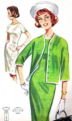 Vintage Sewing Pattern 1960s Butterick 2180 Mad Men by paneenjerez, $16.00
