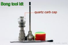 Bong Tool Set With Quartz Nail Carb Cap 10mm 14mm 18mm Domeless Gr2 Titanium Nail Carb Cap Dabber Slicone Jar For Glass Bongs Glass Bong Oil Rigs Glass Pipe Online with 18.91/Piece on Healthy_cigarette's Store | DHgate.com