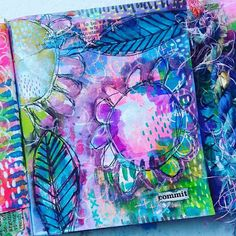 Art Journal Page Ideas Mini art journal page by Jennifer Suzanne of Bug-a-Doodle Designs