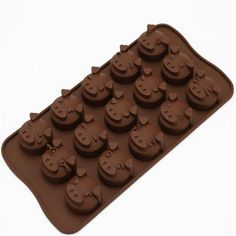 Diy 15 Cups Piggy Shape Chocolate Molds Mini Cake Silicone Moulds Baking Tool